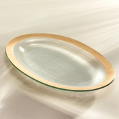 Annieglass Roman Antique Large Oval Platter Gold