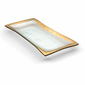 Annieglass Roman Antique Olive Tray Gold