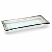 Annieglass Roman Antique Olive Tray Platinum