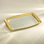 Annieglass Roman Antique Rectangular Tray Gold