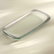 Annieglass Roman Antique Relish Tray Platinum