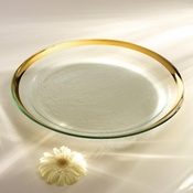 Annieglass Roman Antique Round Pasta Bowl Gold