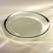 Annieglass Roman Antique Round Pasta Bowl Platinum