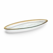 Annieglass Roman Antique Salmon Platter Platinum