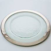 Annieglass Roman Antique Service Plate Platinum