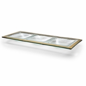 Annieglass Roman Antique Three-Section Tray Gold