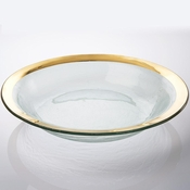 Annieglass Roman Antique Tossing Bowl Gold