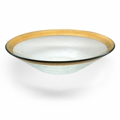Annieglass Roman Antique Wok Bowl Gold