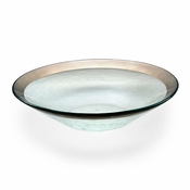 Annieglass Roman Antique Wok Bowl Platinum