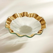 Annieglass Ruffle Bowl Gold