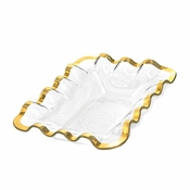 Annieglass Ruffle Bread Basket Gold