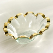 Annieglass Ruffle Dip Bowl Gold