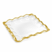 Annieglass Ruffle Square Server Gold