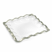 Annieglass Ruffle Square Server Platinum