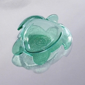 Annieglass Sea Life Turtle Small Bowl Green
