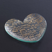 Annieglass Sweet Nothings Heart Plate Gold