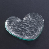 Annieglass Sweet Nothings Heart Plate Platinum