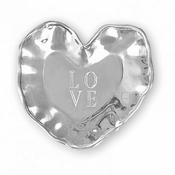 "Beatriz Ball A Little Something heart engraved tray (""LOVE"")"