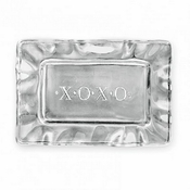 "Beatriz Ball A Little Something rectangular engraved tray (""XOXO"")"