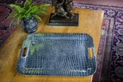 Beatriz Ball CROC Rectangular XLarge Tray with Handles
