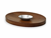 Beatriz Ball CUTTING BOARD deep ovl w/dip bowl