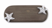 Beatriz Ball CUTTING BOARD Ocean starfish ovl long dark - CLOSEOUT