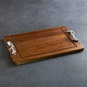 Beatriz Ball CUTTING BOARD Soho torza rect w/well dark (xlg)