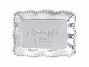 Beatriz Ball GIFTABLES Organic Pearl rect engraved tray- girlfriends, giggles, gratitude
