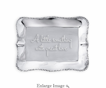 Beatriz Ball GIFTABLES Pearl rect engraved tray- A little something with great love