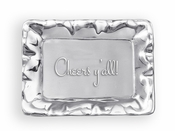 Beatriz Ball GIFTABLES Vento rect engraved tray- Cheers ya'll!