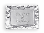 Beatriz Ball GIFTABLES Vento rect engraved tray- Eat, Drink and be Merry