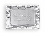 Beatriz Ball GIFTABLES Vento rect engraved tray- The best things in life are aged