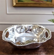 SOLD OUT Beatriz Ball ORGANIC PEARL Kristi Oval Medium Bowl with Handles (Retired)