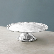 SOLD OUT Beatriz Ball Pedestal Organic Pearl Nova Plate (Rnd)