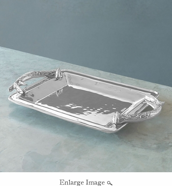 Beatriz Ball WESTERN antlers rect. tray (md)