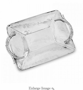 Beatriz Ball WESTERN antlers rect. tray (xlg)