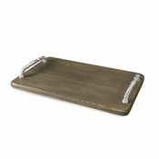 Beatriz Ball WOOD Soho tray w/bolt handles (lg) ash