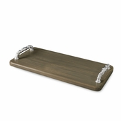 Beatriz Ball WOOD Soho tray w/bolt handles (md) ash