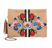 SOLD OUT Inzi Designer Bag: Butterfly Clutch - Nude