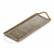 Calaisio Rectangular Cocktail Tray With Inset Glass - 14""