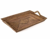Calaisio Rectangular Tray with Wrapped Handles - 24""