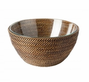 Calaisio Round Bowl with Glass Insert - 11""