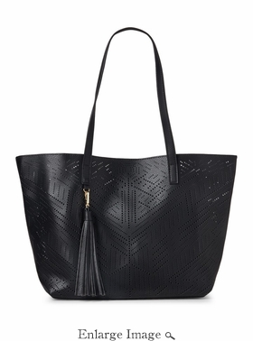 Celine Perforated Bag-In-Bag Tote Black - CLOSEOUT
