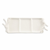 Ceramic Coral 3 Section Server - CLOSEOUT