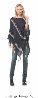 Chelsea Poncho - Navy - CLOSEOUT