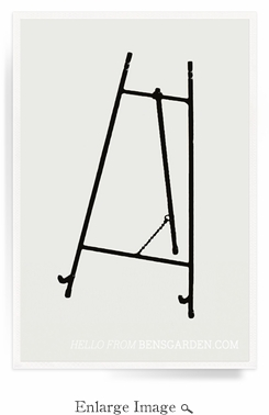 Classic Black Iron Gallery Easel For Decoupage Trays - 24 inch