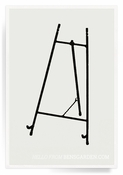 Classic Black Iron Gallery Easel For Decoupage Trays -5 inch