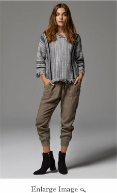 Elan Coco Sweater - Gray - CLOSEOUT