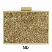 Collective Designs - Beaded Minaudiere Gold