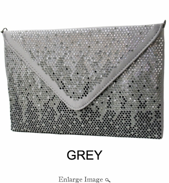 Collective Designs - Crystal Accent Envelope Grey